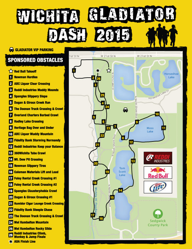 Wichita Gladiator Dash 2015 Course Map