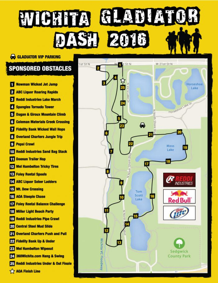 Wichita Gladiator Dash 2016 Course Map