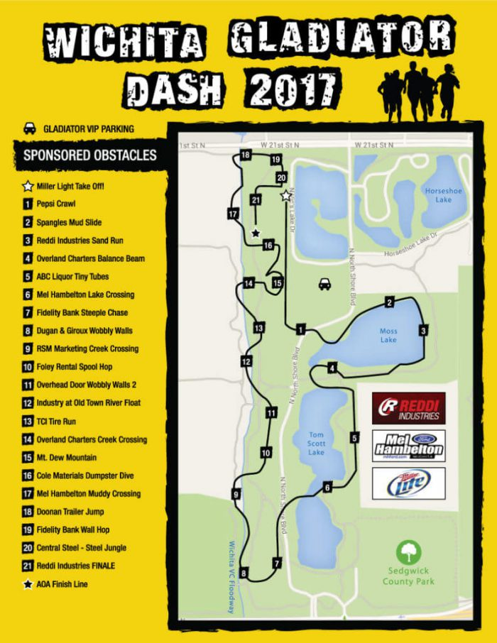 Wichita Gladiator Dash 2017 Course Map