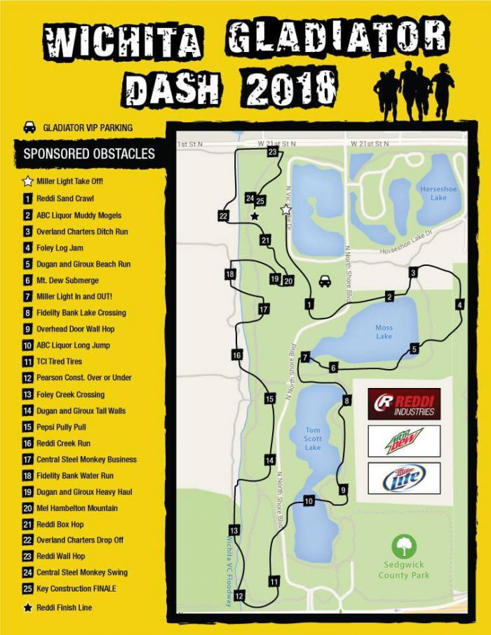 Wichita Gladiator Dash 2018 Course Map