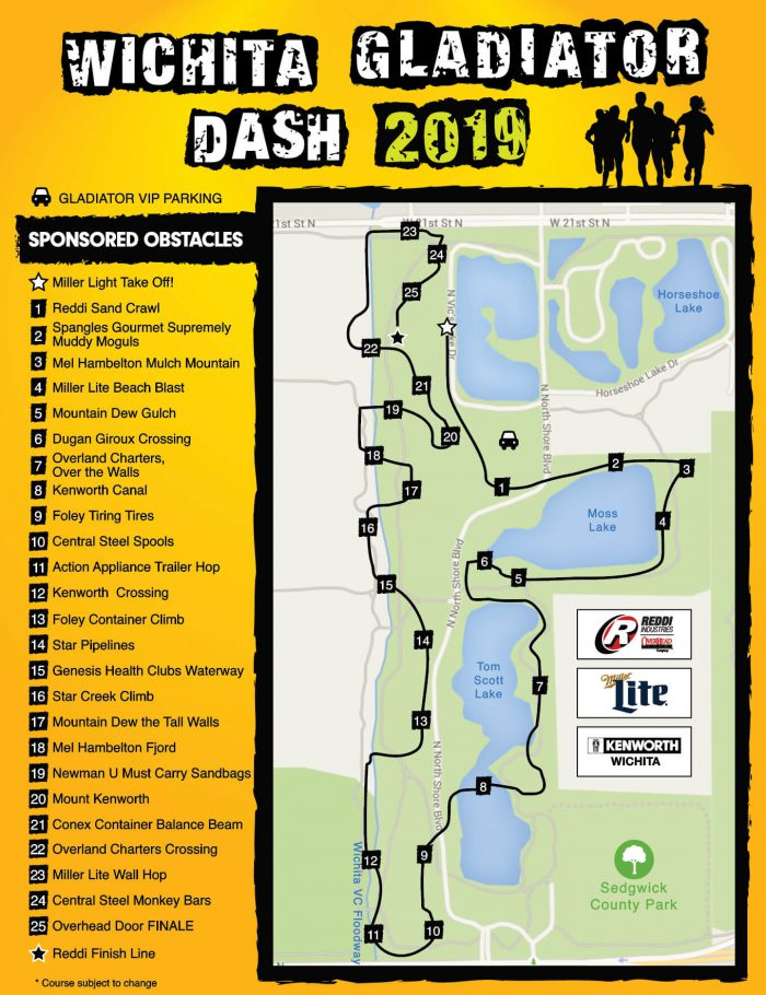 Wichita Gladiator Dash 2019 Course Map